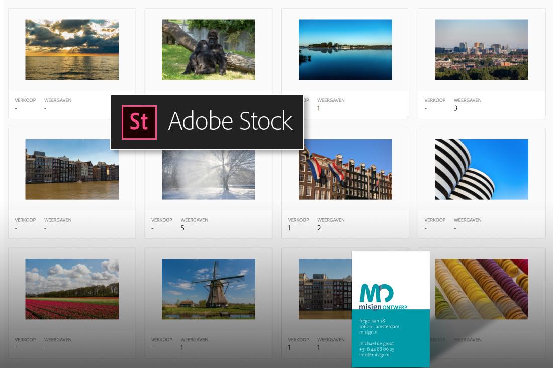Adobe Stock fotografie van misign ontwerp